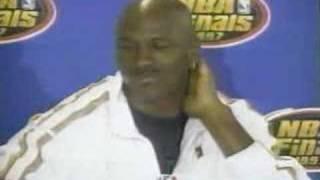 1997 NBA Finals - Michael Jordan Press Conference After Game 1