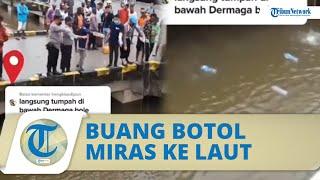 Viral Video Polisi di Mimika Buang Miras Beserta Botolnya ke Laut, Kapolres Berikan Klarifikasi