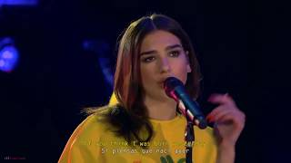 Dua Lipa   IDGAF Live (Subtitulado Ingles   Español)
