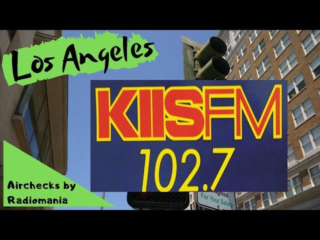 KIIS 102.7  Los Angeles ' Kiss FM '  Benny Martinez  June 25th 1987