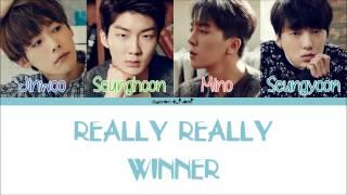 WINNER - REALLY REALLY Color Coded Lyrics [Han/Rom