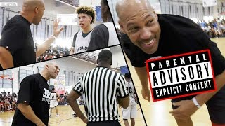 LaVar Ball UNCENSORED COACHING: PART 1 - Lavar VS AAU Referees in Big Ballers LOSS! - dooclip.me