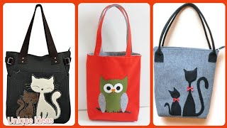 Beautiful Handmade Felt Fabric Grocery Bags Styles And Patterns