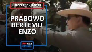 Momen Prabowo Subianto Ketemu Enzo Taruna Bule yang Viral, Begini Sikapnya saat Bertatapan