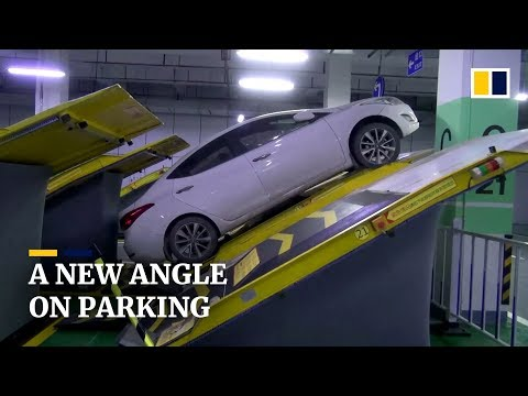 Saving Space with Incline Parking Spots in China