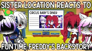 Sister location react to Funtime freddy's backstory [MADE UP BACKSTORY : read description]