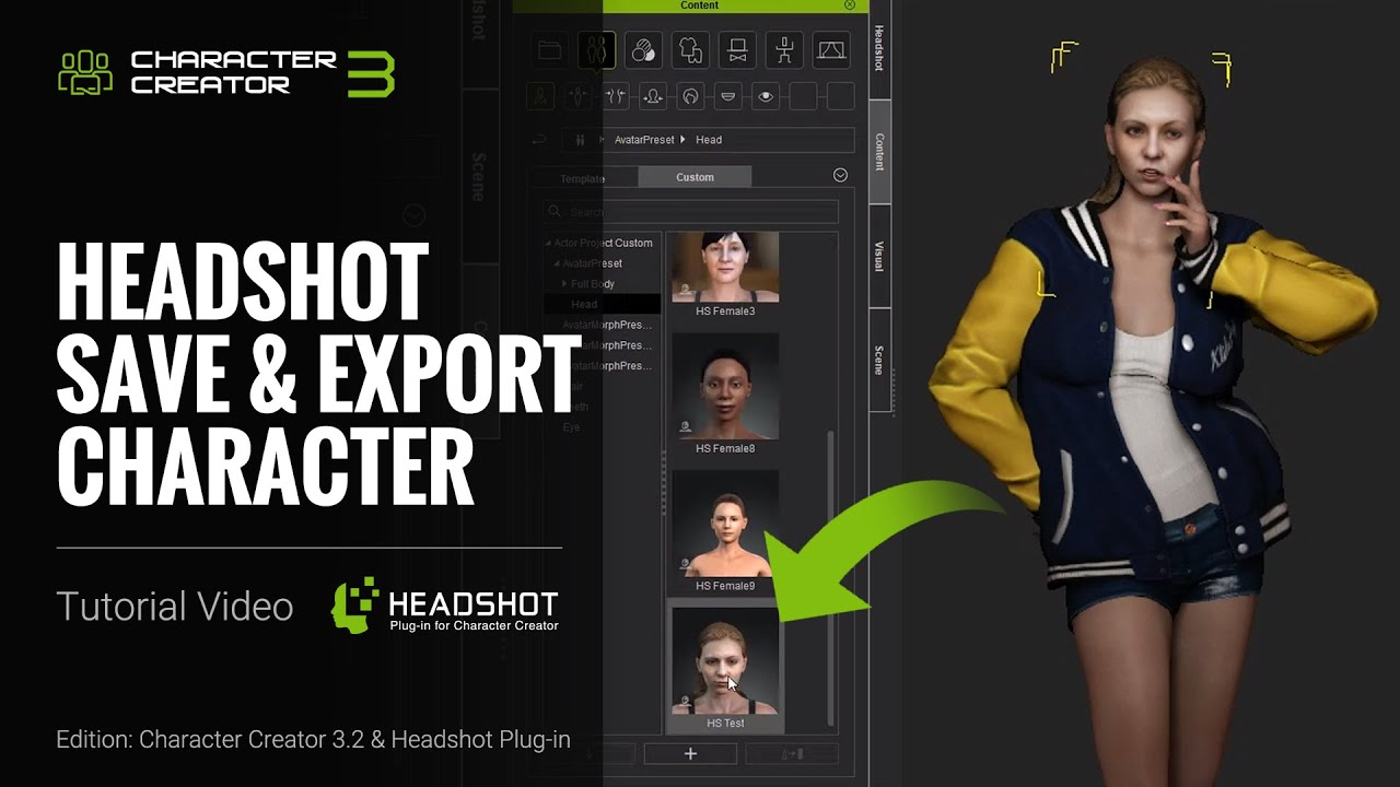 Headshot - Save and Export Character