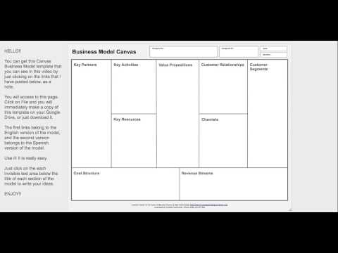 mp4 Business Model Canvas Google Drawing, download Business Model Canvas Google Drawing video klip Business Model Canvas Google Drawing