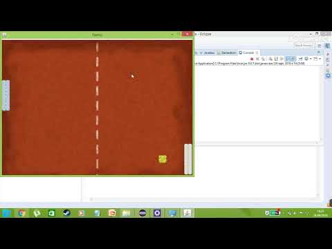 2D Tennis Game with Java
