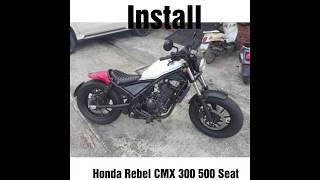 Install Honda Rebel CMX 300 500 Replacement Seat Motozaaa