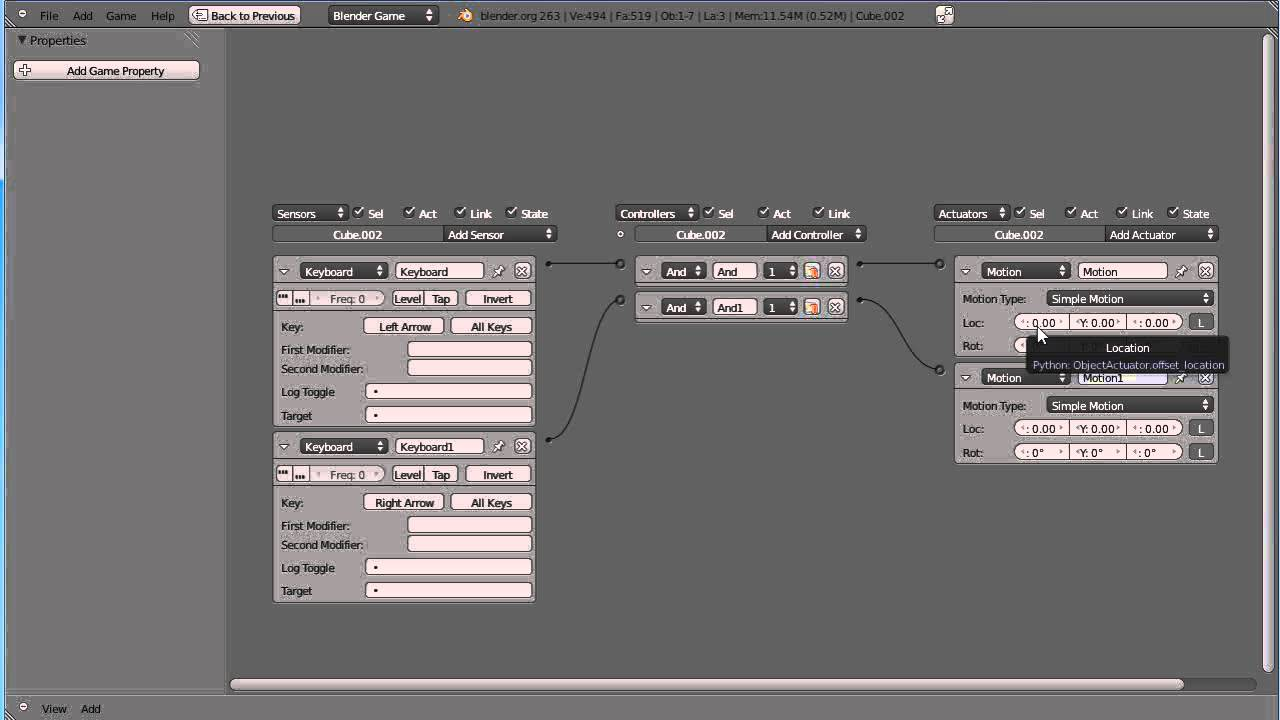 Blender 2.6 Tutorial - Game Engine Physics - Part 1
