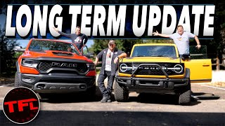 Here Are The UNEXPECTED Pros And Cons Of Owning The Ram TRX And The Ford Bronco! Long-Term Update