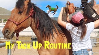 My Tack Up Routine! How To Saddle My Horse | Collab With Simply Hal