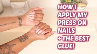 PRESS ONS THAT LAST!? | Application + The BEST Glue! | Arnell Armon