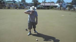 Lawn Bowling Arm demo - Jigger Stick with  no trigger or clamps