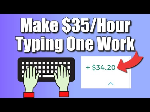 Make $35 Per Hour Typing One Word Online! (FREE) | Work From Home Jobs 2021