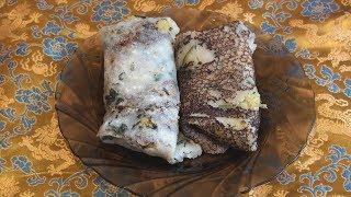Блины Атта-доса с картофелем - индийская кухня.