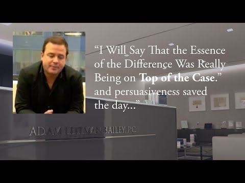 """""""I Will Say That the Essence of the Difference Was Really Being on Top of the Case."""" testimonial video thumbnail"""