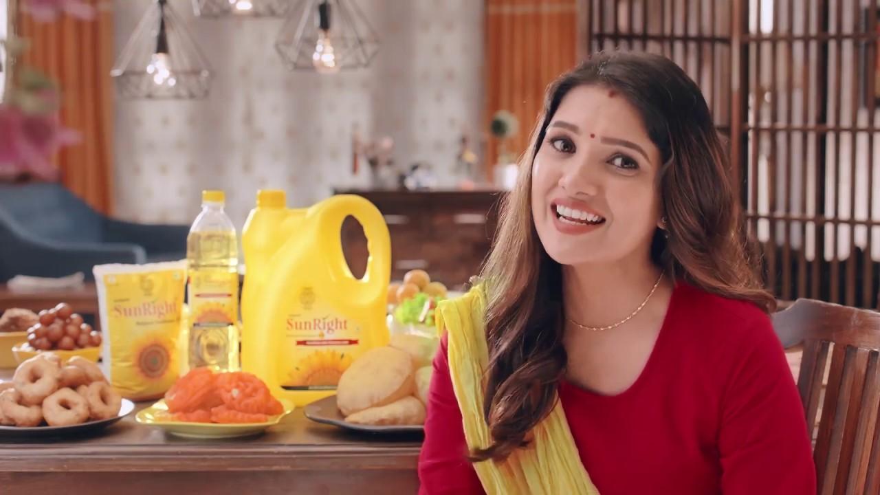 SunRight Refined Sunflower Oil | Tamil New Year Ad | Vani Bhojan