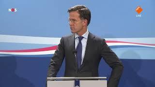 TERUGKIJKEN: Rutte staat pers te woord na wekelijkse ministerraad