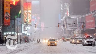 Snow Struggles in New York City | The New York Times - Video Youtube