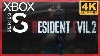 [4K] Resident Evil 2 (2019 Remake) / Xbox Series S Gameplay