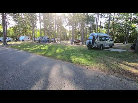 Campsites near the basin road. Our van is parked in site 22.