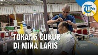 Tukang Cukur di Mina Laris Manis Seusai Jamaah Lempar Jumroh
