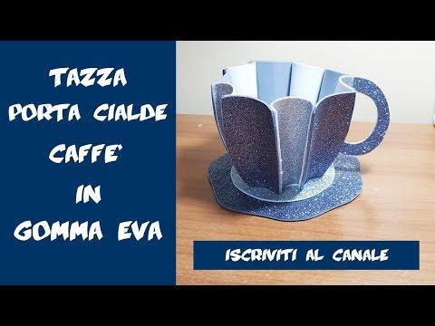 DIY Tazza porta cialde caffè in gomma eva