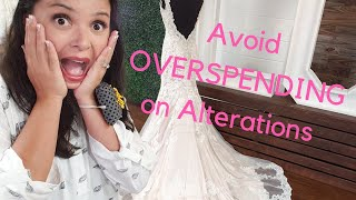 Avoid overspending on bridal alterations for your wedding dress!