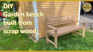 DIY 3-Sitzer Gartenbank aus Eichenholz- Balken selber bauen I Homemade Outdoor Sofa from old wood.
