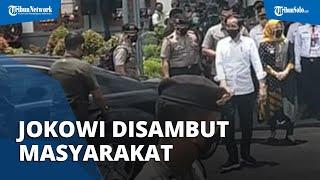 Usai Coba KRL Yogja-Solo Turun di Stasiun Klaten, Presiden Jokowi Naik Mobil dan Disambut Masyarakat
