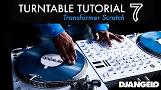 Turntable Tutorial 7 - TRANSFORMER (Mixer Scratch Technique)