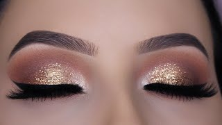 Classic Brown Glitter Eye Makeup Tutorial - Video Youtube