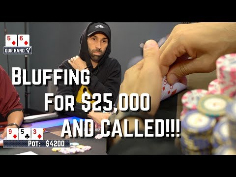 ALL-IN BLUFFING for $25,000 and CALLED! | Poker VLOG 67