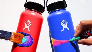 Customizing Hydro Flasks Ft. ZHC !!💦 (Giveaway)