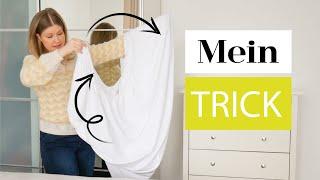 KONMARI Bettwäsche falten - einfach & platzsparend | Das weiße Reh