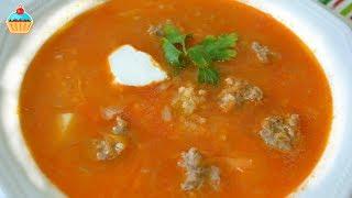 Смотреть онлайн Суп из квашеной капусты с фрикадельками