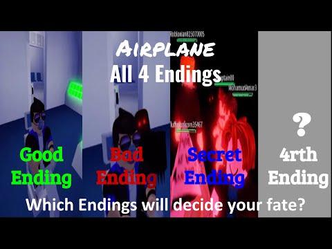 ROBLOX Airplane | All 4 Endings