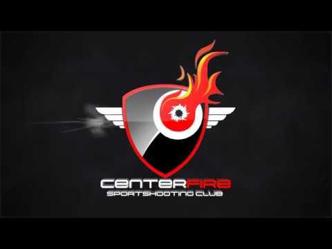 Centerfire Logo Gun Shot Side