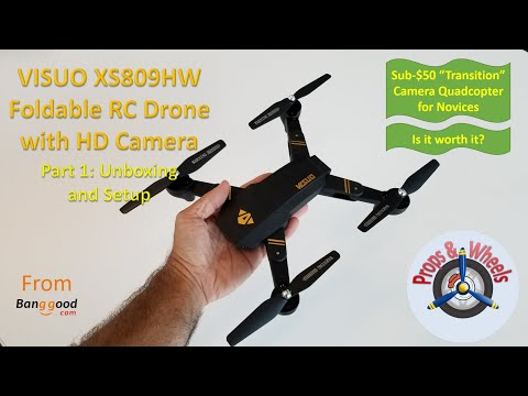 VISUO XS809HW Foldable RC Drone with HD Camera from Banggood - Part 1: Unboxing and Setup