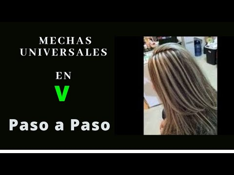 mechas universales en v / paso apaso / how to make curls step by step