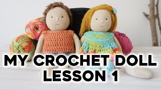 HOW TO CROCHET DOLL. LESSON 1: THE HEAD | Amigurumi Doll Tutorial + Free Pattern | Crochet Lovers