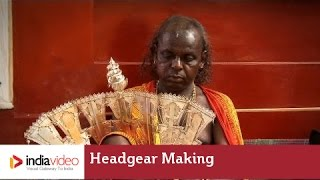 Headgear making at Brahma Baidarkala Temple
