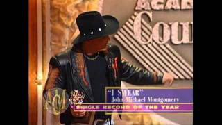 """John Michael Montgomery Wins Single of the Year For """"I Swear"""" - ACM Awards 1995"""