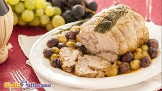 Veal roast with grapes - Italian recipe