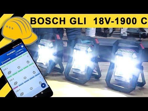 LED Akku Baustrahler mit APP Steuerung? BOSCH GLI 18V-1900 C Quick Test   Top oder Flop?