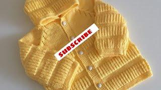 New Knitting Pattern For Cardigan/jackets/baby Sweater,बेबी स्वेटर डिज़ाइन आसान बुनाई में बनाइये#7