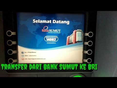 Cara transfer dari Bank SUMUT ke Bank BRI di ATM
