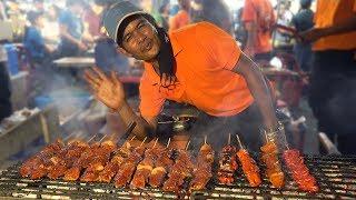 NIGHT MARKET FOOD in Manila Philippines: BBQ & BLOOD STEW - Video Youtube
